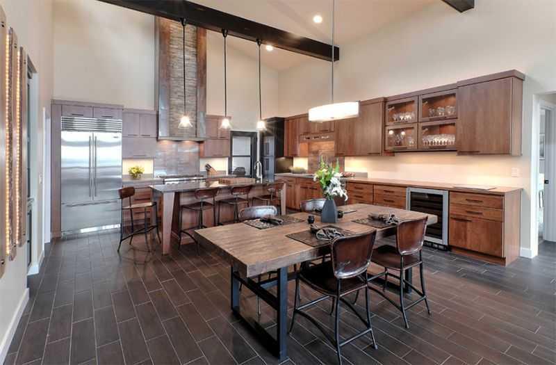 Nội thất phòng bếp đẹp đơn giản đến từ sự kết hợp hài hòa giữa màu sắc